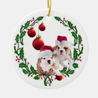 Bulldog Pawsitively Wonderful Christmas Wishes Christmas Ornament