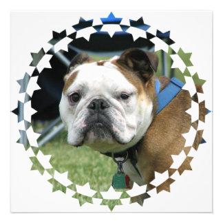 Bulldog Photo Invitation
