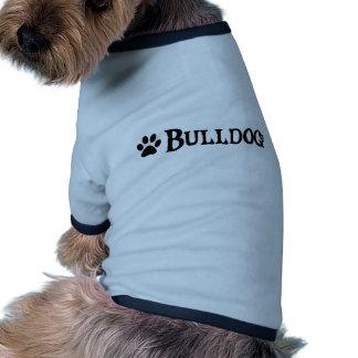 Bulldog (pirate style w/ pawprint) dog tee