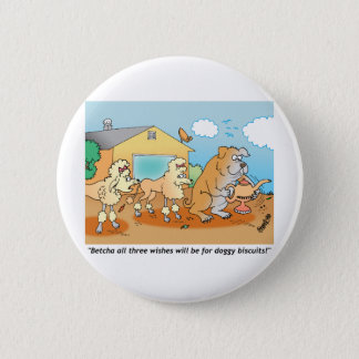 Bulldog - Poodle Cartoon Gifts 6 Cm Round Badge
