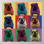 Bulldog Pop-Art Poster