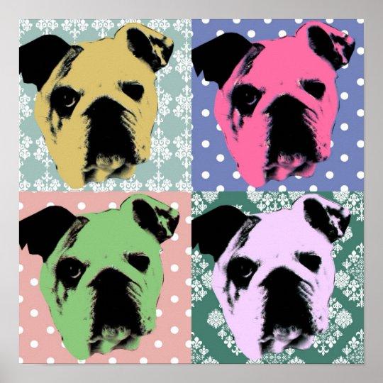 Bulldog Pop Art Print