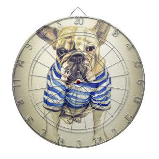 Bulldog Portrait in Purple Haze Dart Boards