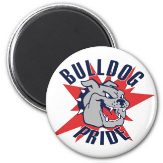Bulldog Pride 6 Cm Round Magnet