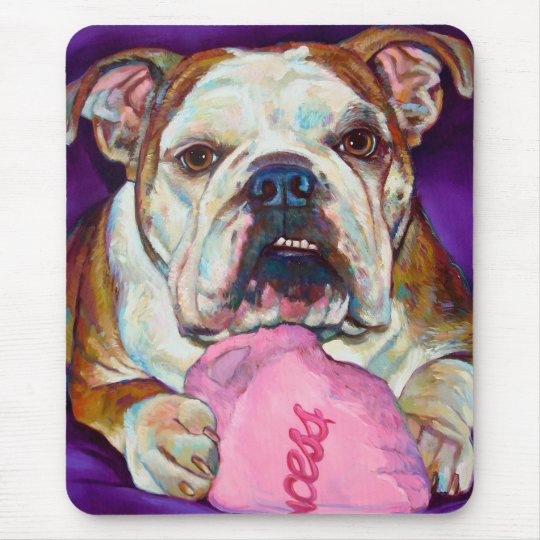 Bulldog Princess Mouse Mat