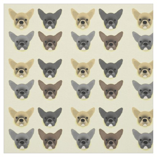 Bulldog Puppies Fabric