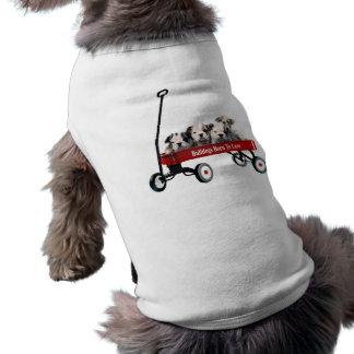 Bulldog Puppies In Wagon Pet Clothing