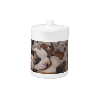 Bulldog Puppies Teapot