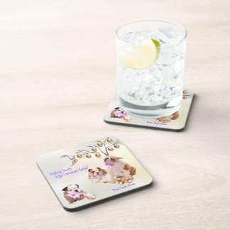 Bulldog Puppy Eggs -Traordinary Easter Wishes Coasters