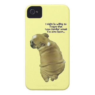 Bulldog Puppy Love Handles and Bacon iPhone 4 Case