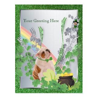 Bulldog Puppy Number One St Pattys Customize It Postcard