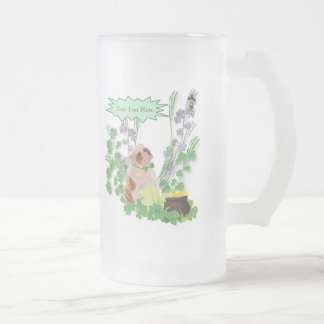 Bulldog Puppy St Pattys Day Wishes Mug