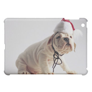 Bulldog Puppy Wearing Santa Hat Case For The iPad Mini