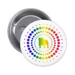 Bulldog Rainbow Studs Pinback Buttons