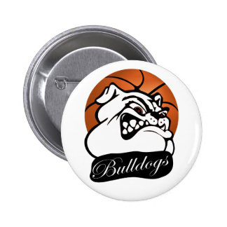 Bulldog School Team Mascot Basketball 6 Cm Round Badge