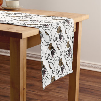 Bulldog Short Table Runner