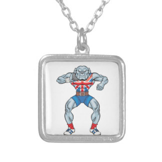bulldog shotputter 2 silver plated necklace