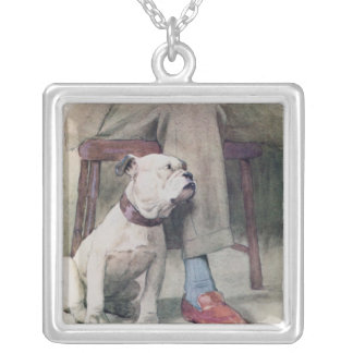 Bulldog Silver Plated Necklace