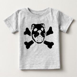 Bulldog Skull for Baby Tee Shirt