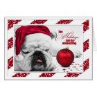 Bulldog Sleeps through Christmas Funny Card