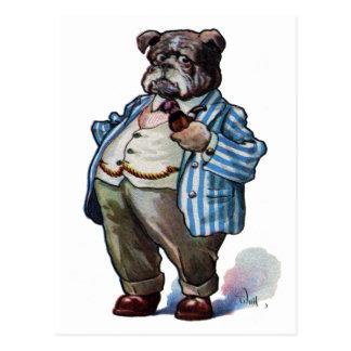 Bulldog Smoking Pipe Post Cards