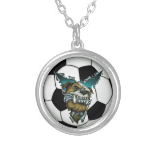 Bulldog Soccer Necklace