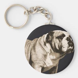 Bulldog Spirit Basic Round Button Key Ring