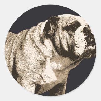Bulldog Spirit Round Sticker