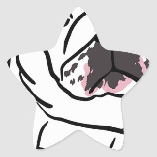 Bulldog Star Sticker