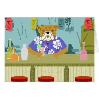 Bulldog Tiki Bar Card