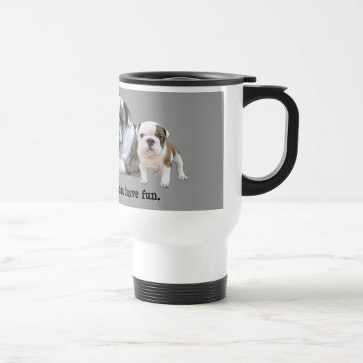 Bulldog Trio Travel Mug