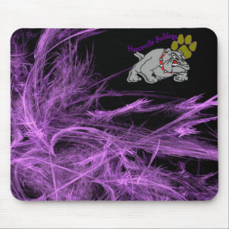 Bulldog w/Paw & Purple Mouse Mat