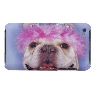 Bulldog wearing tiara iPod touch cases