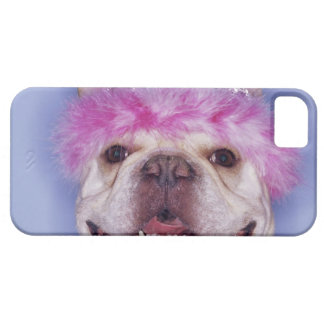 Bulldog wearing tiara iPhone 5 cases