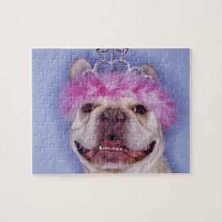 Bulldog wearing tiara jigsaw puzzle