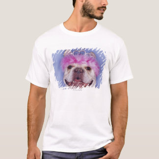 Bulldog wearing tiara T-Shirt