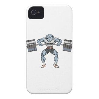 bulldog weight lifter iPhone 4 case