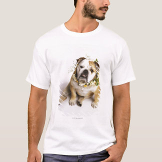 Bulldog with flower collar T-Shirt