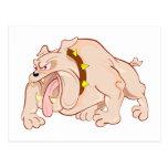 Bulldogge bulldog postkarte