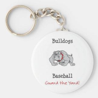 Bulldogs Baseball Guard the Yard! Basic Round Button Key Ring
