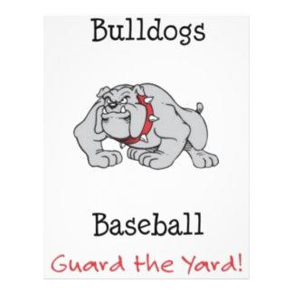 Bulldogs Baseball Guard the Yard Personalized Flyer