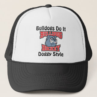 Bulldogs Hockey Hat - Red Letters