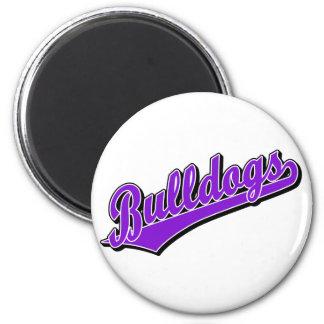 Bulldogs in Purple 6 Cm Round Magnet