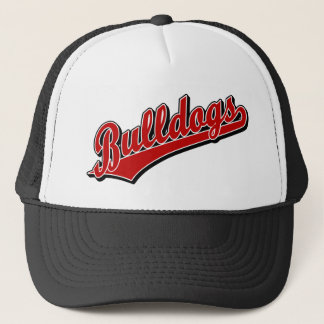 Bulldogs in Red Trucker Hat