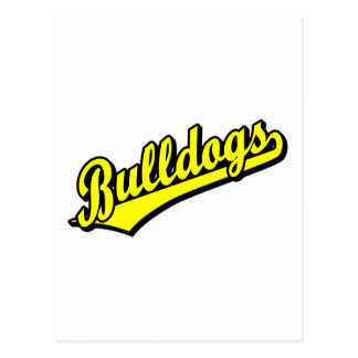 Bulldogs in Yellow Postcard