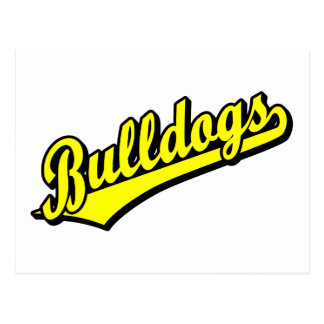 Bulldogs in Yellow Postcard