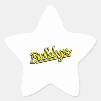 Bulldogs in yellow sticker