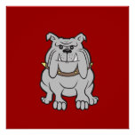 Bulldogs Mascot on Red Dog Lover Gifts