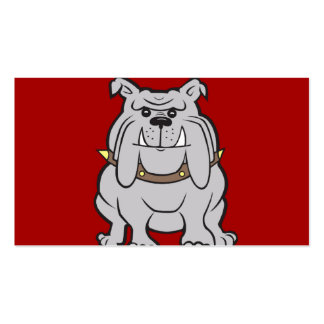 Bulldogs Mascot on Red Dog Lover Gifts Business Cards