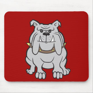 Bulldogs Mascot on Red Dog Lover Gifts Mouse Pad